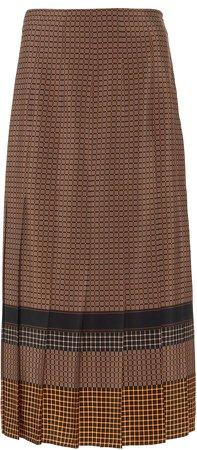 Joseph Saria Silk Plaid Skirt