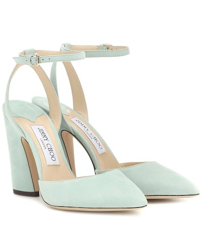Micky 100 suede pumps