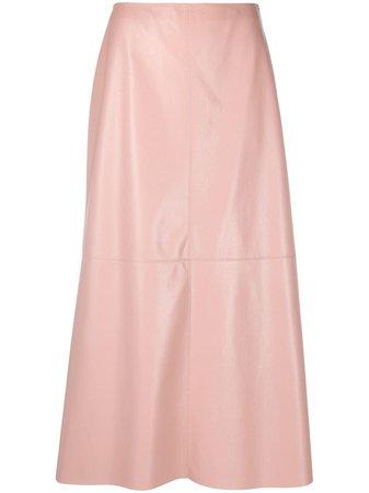 Nanushka Zayra Vegan Leather Midi Skirt - Farfetch