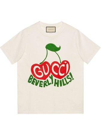 Gucci Beverly Hills cherry-print T-shirt - Farfetch