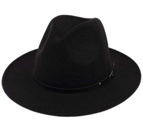 Black Brim Fedora Hat