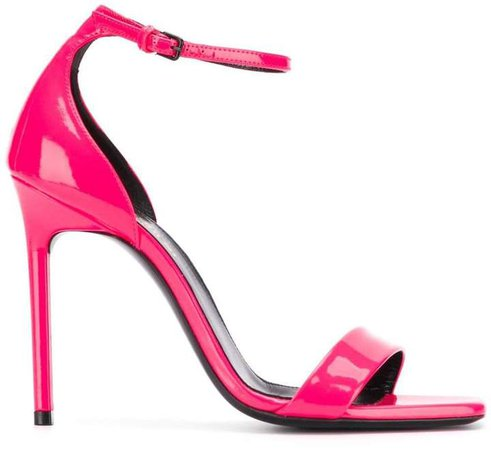 saint laurent high heels pink