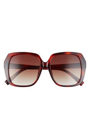 Le Specs FroFro Alt Fit 56mm Gradient Square Sunglasses   Nordstrom
