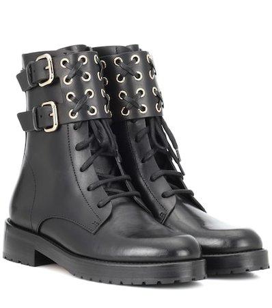 RED (V) embellished leather ankle boots