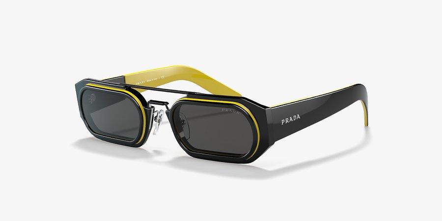 Prada PR 01WS 53 Grey-Black & Black Sunglasses | Sunglass Hut USA