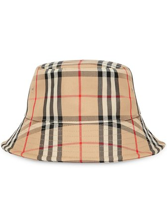 Burberry Vintage Check Bucket Hat Ss20 | Farfetch.com
