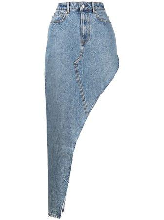 Alexander Wang long asymmetric denim skirt - Farfetch