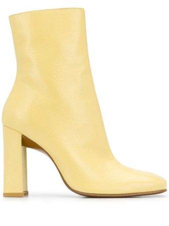 BY FAR high-heel ankle boots yellow 20PFELTBVNLGRL - Farfetch