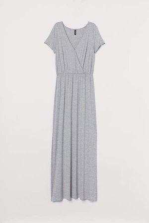 Jersey Maxi Dress - Gray