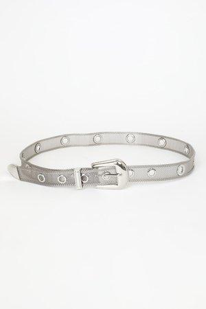 Trendy Silver Metal Mesh Belt - Metal Belt - Mesh Belt