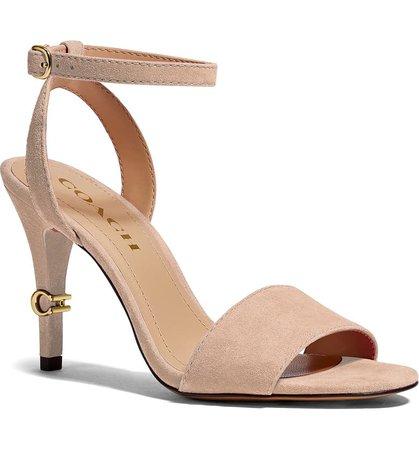 COACH Regina Ankle Strap Sandal (Women) | Nordstrom