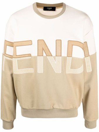 Shop Fendi embroidered-logo sweatshirt with Express Delivery - Farfetch