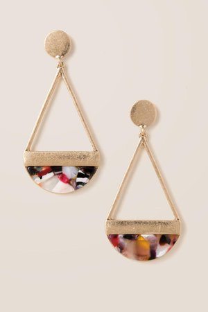 Brianna Marbled Resin Drop Earrings | francesca's