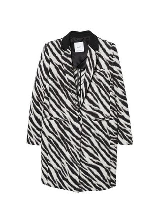 MANGO Zebra cotton coat