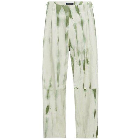 Digital Pants Museum sur Instagram: Louis Vuitton by Virgil Abloh Tie-Dye Leather Pants
