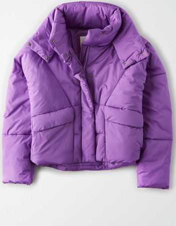 AE 80's Puffer Jacket purple