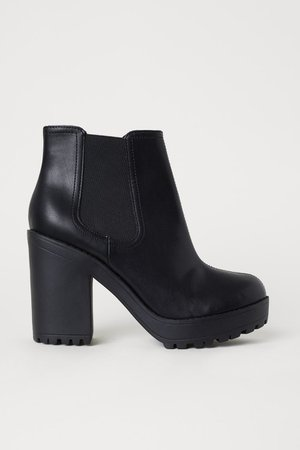 [H&M Divided] chunky high heel ankle boots