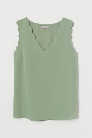 Sleeveless Blouse - Green