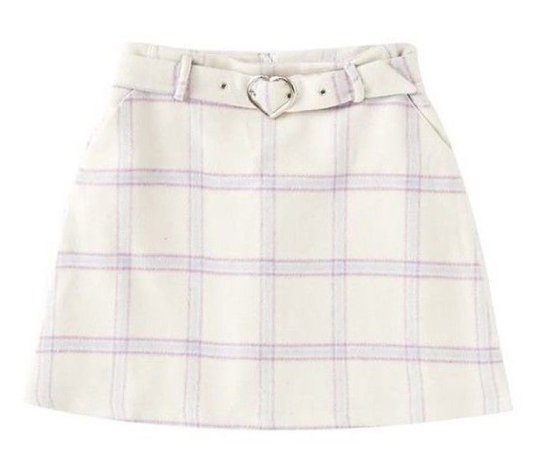 white and purple skirt