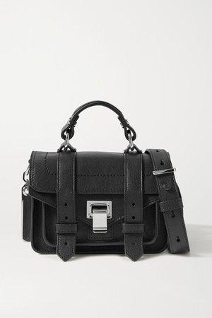 Ps1 Micro Leather Shoulder Bag - Black