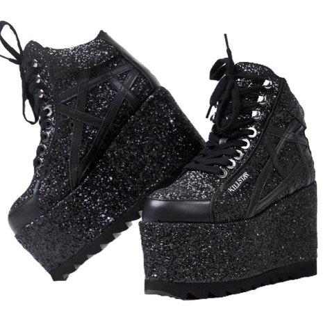 black platforms