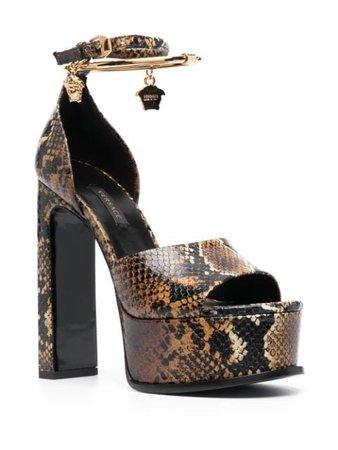 Versace Medusa Aeternitas snakeskin-effect Sandals - Farfetch