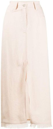 decorative pocket maxi skirt