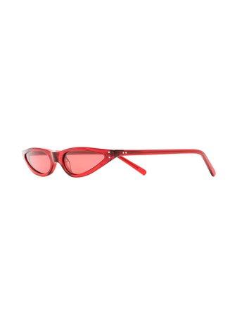 George Keburia Red Cat Eye Sunglasses GKS02 | Farfetch