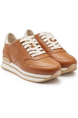 Hogan - H222 Leather Platform Sneakers - brown