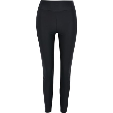 Black coated legging | River Island