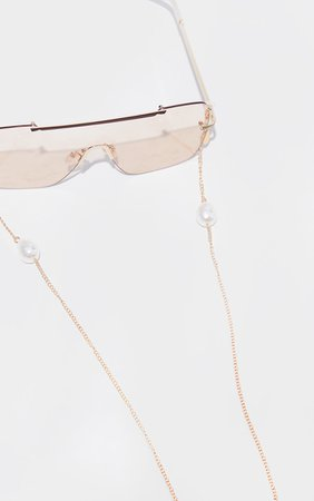 White Pearl Sunglasses Chain | Accessories | PrettyLittleThing USA