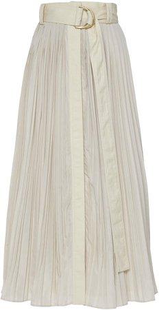 Aje Prima Pleat Midi Skirt Size: 4