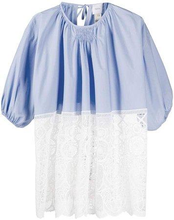 Patou lace panel T-shirt