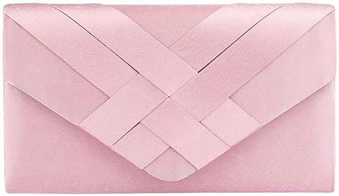 Women's Clutch Purse Evening Bag Handbag for Wedding(RosyBrown): Handbags: Amazon.com