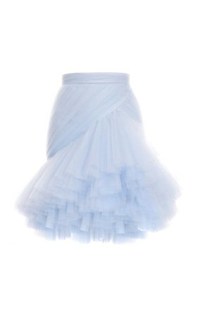 Pleated Draped Tulle Skirt By Balmain | Moda Operandi