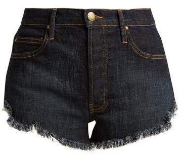 The Great - The Cut Off Raw Hem Denim Shorts