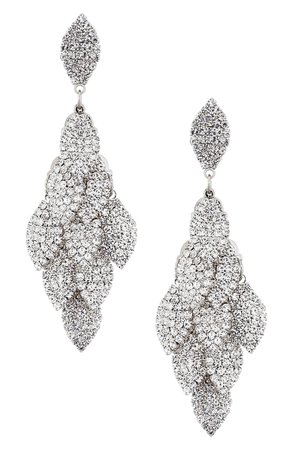 Nina Layered Leaf Drop Earrings | Nordstrom