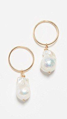 Mateo 14k Gold Baroque Pearl and Diamond Earrings | SHOPBOP