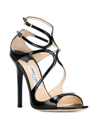 Black Jimmy Choo 'Lance' sandals LANCEPAT - Farfetch