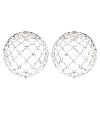 Globe crystal-embellished earrings