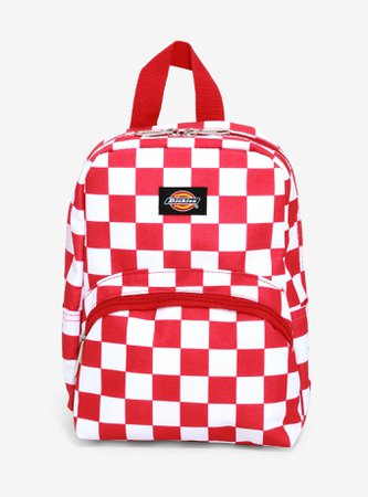 Dickies Red & White Checkered Mini Backpack