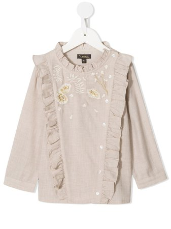 Shop Velveteen Nancy embroidered floral blouse with Express Delivery - Farfetch