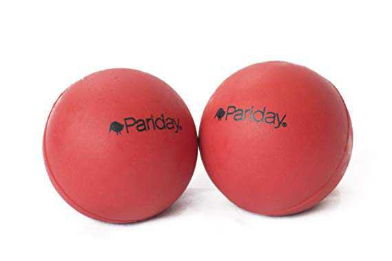 Amazon.com: Pariday TendHer Buddies Self Myofascial Release Massage Balls, Deep Tissue and Trigger Point Massage Therapy for Sore Muscles and Knots, Set of 2 Firm Red Massager Balls in Mesh Bag: Toys & Games