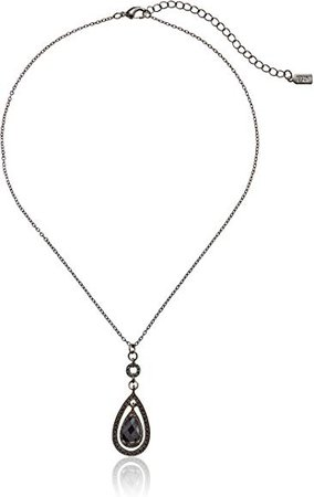 Amazon.com: 1928 Jewelry Black Victorian Teardrop Pendant Necklace: Black Necklaces For Women: Gateway