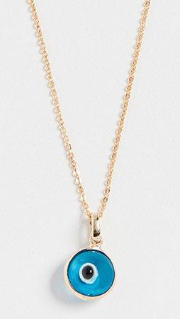 Loren Stewart 14k Evil Eye Necklace | SHOPBOP