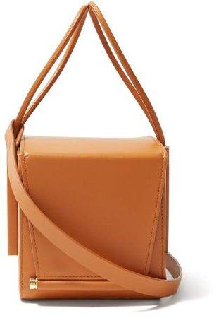 Box Leather Cross Body Bag - Womens - Tan