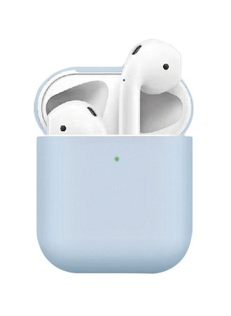 Shop Silicone Protective Case For Apple AirPods 2 Baby Blue online in Dubai, Abu Dhabi and all UAE