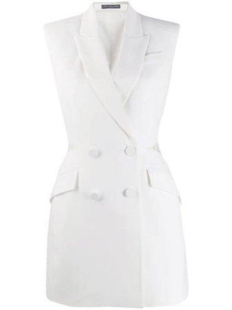 Alexander McQueen Lace Detail Blazer Dress - Farfetch
