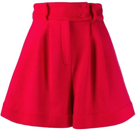 Styland belted wide leg shorts