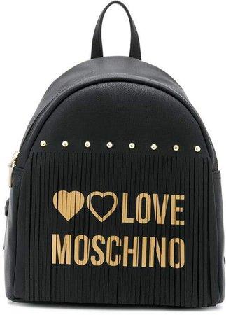 logo fringed backpack